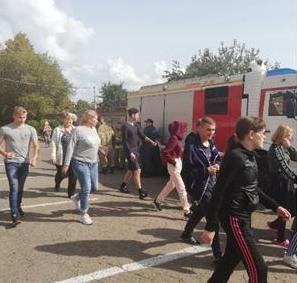 Учебная эвакуация в БПОУ «Сарапульский колледж для инвалидов».